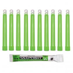 Barras de luz verde...